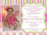 1st Birthday Invitation Sms for Baby Girl 1st Birthday Girl themes 1st Birthday Invitation Photo