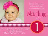 1st Birthday Invitation Sms for Baby Girl Invitation for 1st Birthday Of Baby Girl Wording Image