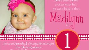 1st Birthday Invitation Sms for Baby Girl Invitation for 1st Birthday Of Baby Girl Wording Image