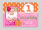 1st Birthday Invitation Sms for Baby Girl Pumpkin Birthday Invitation Pumpkin 1st Birthday Party