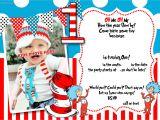 1st Birthday Invitations Free Printable Templates Dr Seuss 1st Birthday Invitation Template Birthday