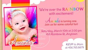 1st Birthday Invitations Templates with Photo Free 1st Birthday Invitation Cards Templates Free