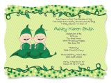 2 Peas In A Pod Baby Shower Invitations Two Peas In A Pod Baby Shower Invitations