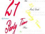 21 Birthday Invitations Free 21st Birthday Invitation Template