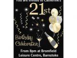 "21 Birthday Invitations Free 21st Birthday Party Invitations Black & Gold 5"" X 7"