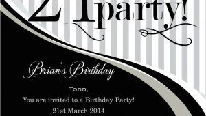 21 Birthday Invitations Templates Free 21st Birthday Invitation Templates Male Templates