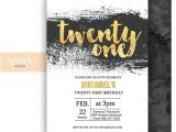 21st Birthday Invitations Male Modern 21st Birthday Invitation for Men with Gold by
