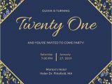 21st Birthday Invitations Templates Invitation Maker Design Your Own Custom Invitation Cards