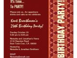 24th Birthday Invitations 24th Birthday Modern orange and Sienna B323 13 Cm X 13 Cm
