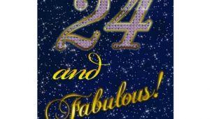 24th Birthday Invitations 24th Birthday Party Invitation Greeting Card