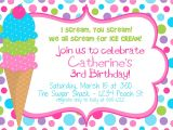 24th Birthday Invitations Templates Icecream Birthday Party Invitation for Girls Digital File