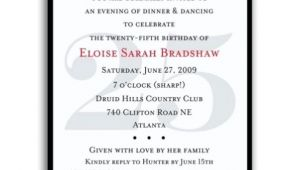 25th Birthday Invite Wording 25th Surprise Birthday Party Invitations Bagvania Free