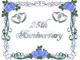 25th Wedding Anniversary Invitation Cards Free Download 25th Wedding Anniversary Border Invitation Stock