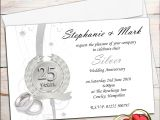 25th Wedding Anniversary Invitation Cards Free Download Free 25th Wedding Anniversary Invitations Free Templates