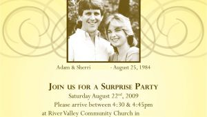 25th Wedding Anniversary Surprise Party Invitations Anniversary Invitations Surprise 25th Wedding
