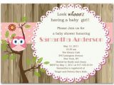 2nd Baby Girl Shower Invitations Lovely Owl and Tree Brown Baby Girl Shower Invitations Bs238