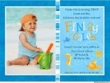 2nd Birthday Invitation Message for Boy Colorful Fish Birthday Invitations Seahorse Starfish