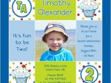 2nd Birthday Invitation Message for Boy Cupcake Boy 2nd Birthday Invitation Cute & Sweet S