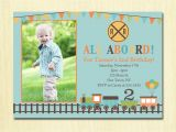 2nd Birthday Invitation Message for Boy Train Birthday Invitation Boys 1st 2nd 3rd 4th Birthday