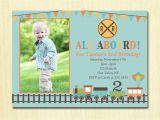 2nd Birthday Invitation Wording for Boy Train Birthday Invitation Boys 1st 2nd 3rd 4th Birthday