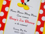 2nd Birthday Invitation Wording Mickey Mouse Gt Brady S Mickey Mouse Party