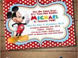 2nd Birthday Invitation Wording Mickey Mouse Items Similar to Huge Selection Mickey Mouse Invitation