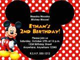 2nd Birthday Invitation Wording Mickey Mouse Mickey Mouse Birthday Invitation