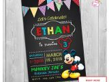 2nd Birthday Invitation Wording Mickey Mouse Mickey Mouse Clubhouse Invitations Printable Personalized