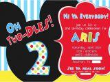 2nd Birthday Invitation Wording Mickey Mouse Two Year Old Birthday Invitations Dolanpedia Invitations