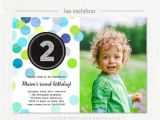2nd Birthday Party Invitations Boy 2nd Birthday Invitation Boy Blue Green Silver Glitter Second