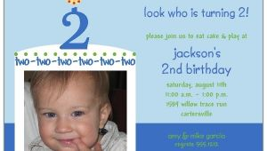 2nd Birthday Party Invitations Boy Birthday Cake Boy Second Birthday Invitations