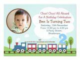 2nd Birthday Party Invitations Boy Boys Train 2nd Birthday Invitation