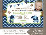 2nd Birthday Party Invitations Boy Dog Birthday Party Invitations Puppy Dog Party Invites 2nd