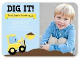 3 Year Old Boy Birthday Party Invitations We Dig Trucks 5×7 Birthday Party Invitations Shutterfly