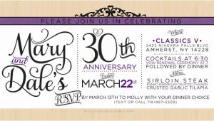 30 Wedding Anniversary Invitations 30th Wedding Anniversary Quotes Quotesgram