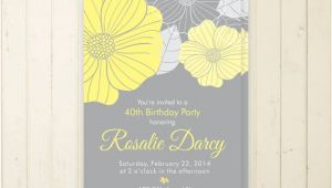30th Birthday Brunch Invitations 30th Birthday Invitation Floral 40th Birthday 50th