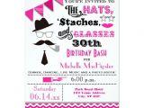 30th Birthday Brunch Invitations Hats Mustaches and Glasses 30th Birthday Invite Zazzle