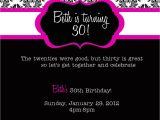 30th Birthday Invitation Templates Free Download 30th Birthday Invitations Printable