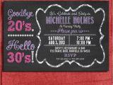 30th Birthday Invites Free 30th 40th 50th Chalkboard Style Birthday Invitation 4×6