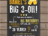 30th Birthday Party Invitations for Him 30th Birthday Invitation Surprise Party Cheers and Beers