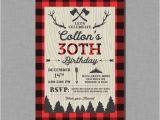 30th Birthday Party Invitations for Him 30th Birthday Invitations for Him Buffalo Plaid Jacob Ap02