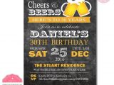 30th Birthday Party Invitations for Him 40th Birthday Invitation for Men 30th Birthday Invitation