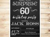 30th Birthday Party Invitations for Him 60th Birthday Surprise Party Invitations by Diypartyinvitation