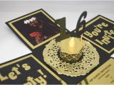 3d Quinceanera Invitations 3d Sweet 16 Explosion Box Invitation In Black and Gold