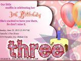 3rd Birthday Invitation Wording 3rd Birthday Invitations 365greetings