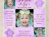 3rd Birthday Invitation Wording Purple Poolside 3rd Birthday Invitation Tropical Flowers