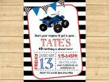 4 Wheeler Birthday Invitations 4 Wheeler Invitation 4 Wheeler Birthday Party Invitation