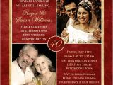 40 Wedding Anniversary Invitations 40 Years Of Smiles Photo Invitation Wedding Anniversary