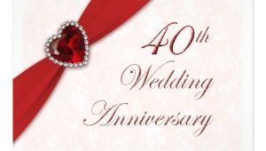 40 Wedding Anniversary Invitations 40th Wedding Anniversary Quotes Quotesgram