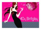40th Birthday Cocktail Party Invitations Divalicious Cocktails 40th Birthday Party 5×7 Paper
